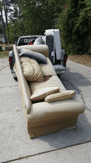 Old couch removal
