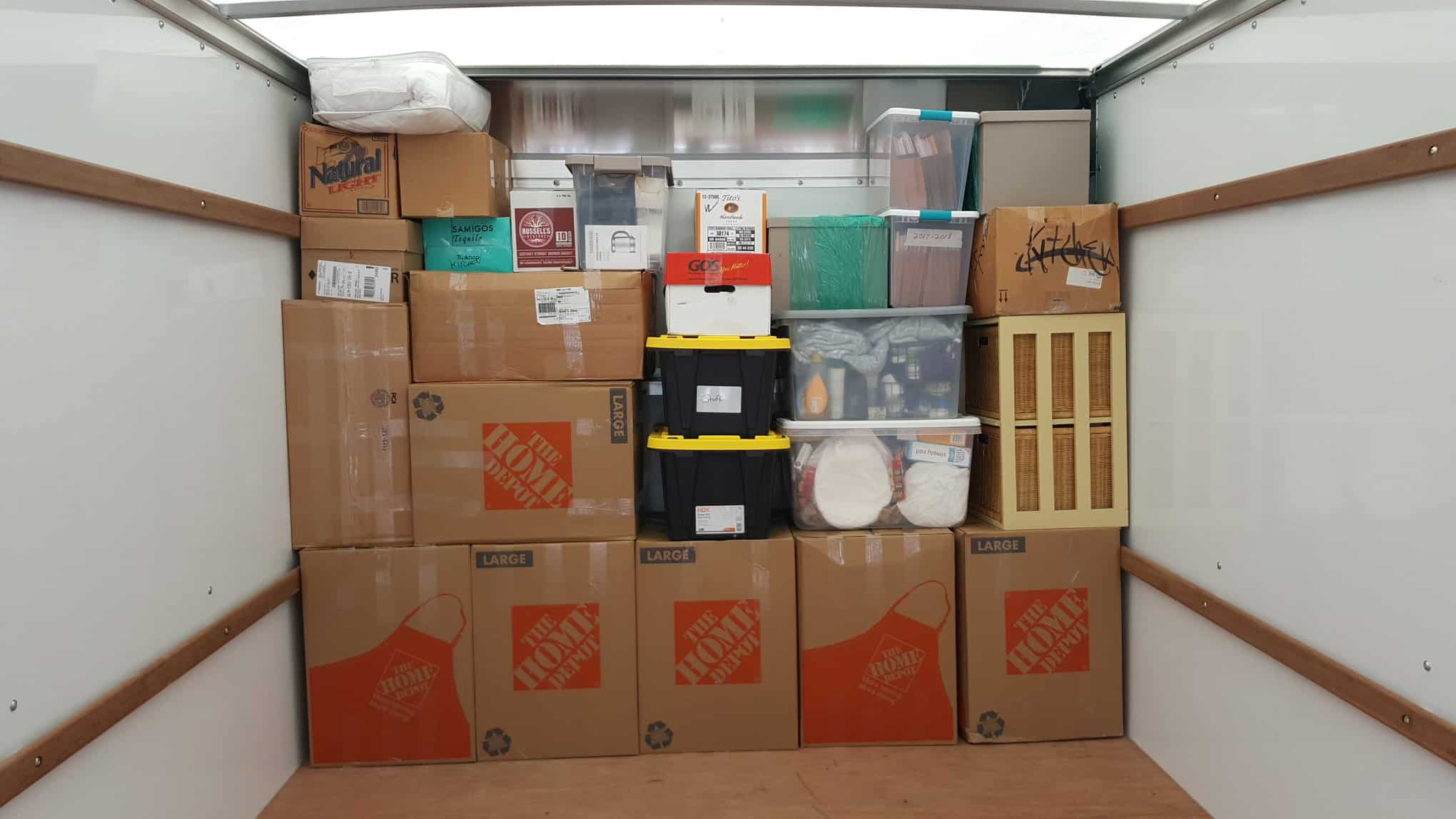 Picture of moving boxes - Moving Labor Services in Wilmington NC